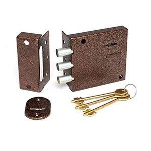 Замок накладной Биф-0030 сувальдный ключ 3 ригеля
