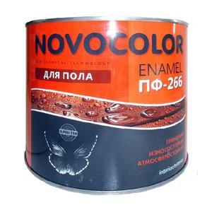 Эмаль для пола Novocolor ПФ-266 красно-коричневая (1,9 кг)