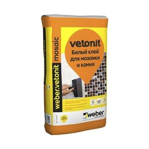Клей плиточный для мозаики и камня Weber Vetonit Мозаик, белый, 25 кг