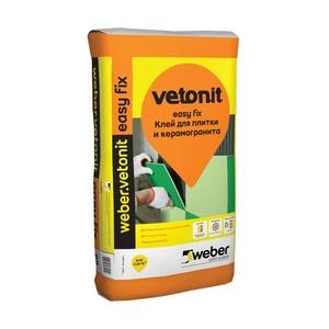 Клей для плитки и керамогранита Weber Vetonit Easy Fix, 25 кг