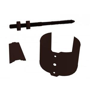 Держатель трубы, металл (на кирпич), d=90 мм, коричневый