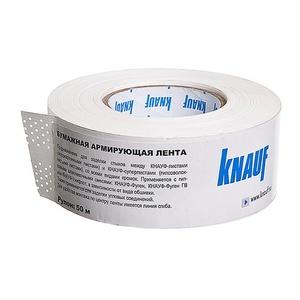Лента бумажная для швов ГКЛ Knauf, 50 м