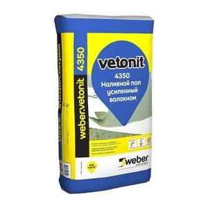 Наливной пол Weber Vetonit 4350, усиленный, 25 кг