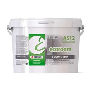 Герметик акриловый Ecoroom AS-12 паропроницаемый (7кг) белый