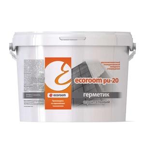 Герметик полиуретановый Ecoroom PU-20 2К (12,5 кг) серый