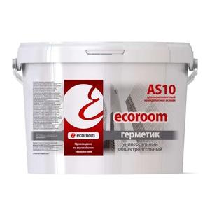 Герметик акриловый Ecoroom AS-10 универсал общестроит (7кг) белый