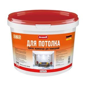 Краска в/д акрилатная для потолка Pufas Decoself белая (10 л)