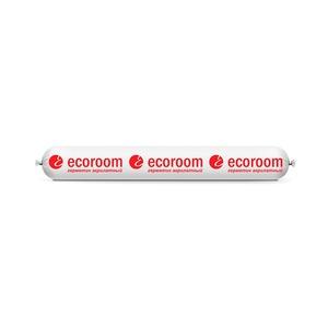Герметик акриловый Ecoroom AS-10 универсал общестроит (0,6 л) белый