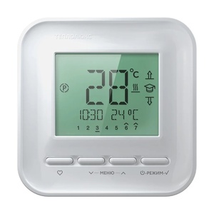 Терморегулятор Teplolux электронный программируемый 520, белый