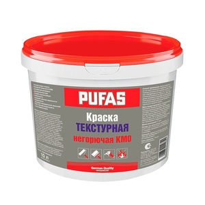 Текстурная негорючая краска Pufas КМ0 немороз. (10 л) NCS S 1000-N