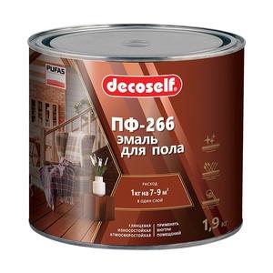 Эмаль для пола Pufas Decoself ПФ-266 красно-коричневая (1,9 кг)
