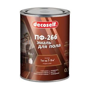Эмаль для пола Pufas Decoself ПФ-266 красно-коричневая (0,9 кг)