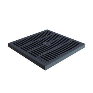Решетка для дождеприемника Standartpark Basic, 280х280 мм, ячеистая черная, пластик