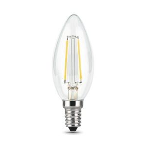 Лампа филаментная LED E14, свеча С35, 9Вт, 2700К, тепл. белый свет