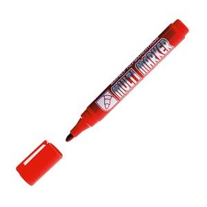 Маркер перманентный красный линия 1-5 мм