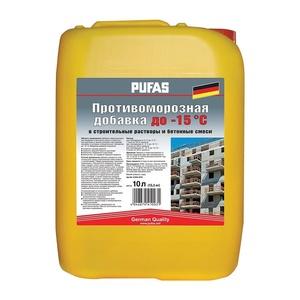 Противоморозная добавка для бетона Pufas до -15С, 10 л = 13,3 кг