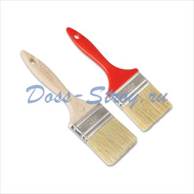 Кисть малярная плоская DEKOR Платинум деревянная ручка 2