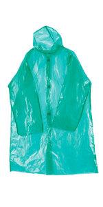 Плащ дождевик на липучке ПВД 45 мкр. прошитый  зеленый