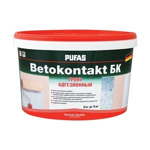 Грунтовка Pufas Бетоконтакт БК для внутренних работ (15 кг)