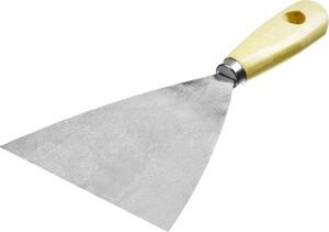 Шпатель стальной MIRAX 120 мм деревянная ручка