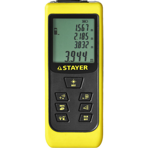 Дальномер лазерный LDM-60  дальность 60 м 5 функций STAYER Professional