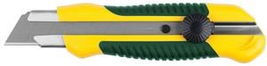 Нож с сегментированным лезвием KRAFTOOL механический фиксатор 25 мм