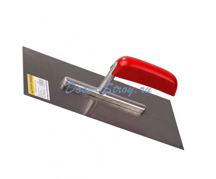 Гладилка стальная STAYER 130х280 мм с деревянной ручкой