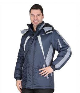 """Куртка """"КАСТОР"""" темно-серый с серым р. 96-100/170-176"""