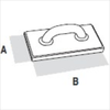 Терка каучуковая (крупнопористая) DEKOR 140х280 мм