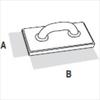 Терка каучуковая (крупнопористая) DEKOR 165х240 мм