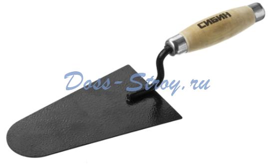 Кельма каменщика с деревянной усиленной ручкой СИБИН 175 мм