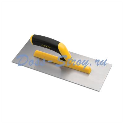 Полутер прямой-малка нержавеющая сталь DEKOR 120х350 мм пластиковая ручка