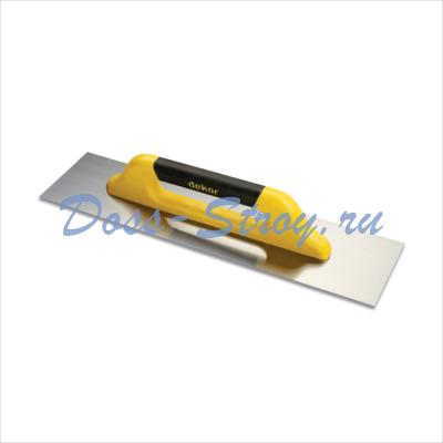 Полутер прямой DEKOR 120х500 мм пластиковая ручка нержавеющая сталь