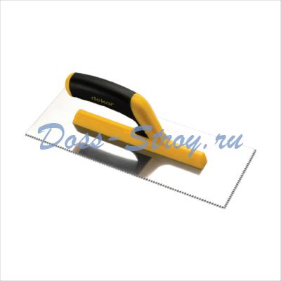 Полутер зубчатый пластиковая ручка DEKOR 115х295 мм треугольный зуб 2х3,6 мм