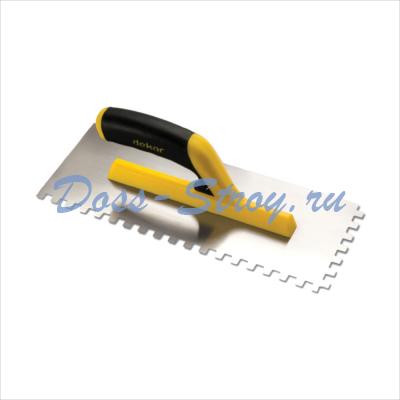 Полутер зубчатый пластиковая ручка DEKOR 120х300 мм квадратный зуб 8х8 мм