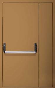 Полуторная глухая дверь Антипаника Push-bar EI 60 RAL 1015 05