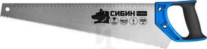 Ножовка по дереву СИБИН 500 мм шаг 4 TPI 6 мм