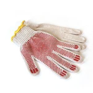 Перчатки хб с ПВХ Стандарт 4-х нитка Точка