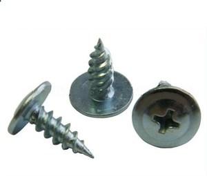 Саморез для крепления листов металла с пресс-шайбой с острым наконечником