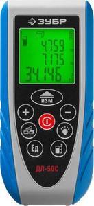 Дальномер лазерный ДЛ-50 C точность 1.5мм дальность 50м класс защиты IP54 ЗУБР Эксперт 34933